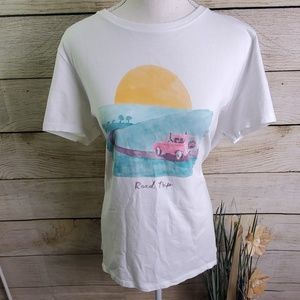 5/$25 - Life is Good Road Trip Watercolor Tee